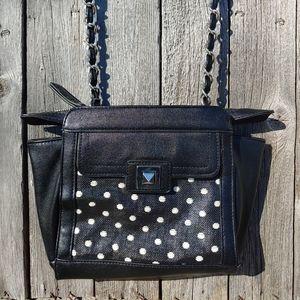 Jessica Simpson black & polka dot purse